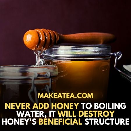 Boiling water and honey