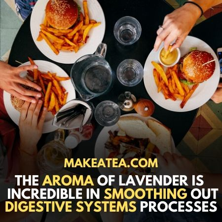 Aroma of lavender is benificial for the digestive system