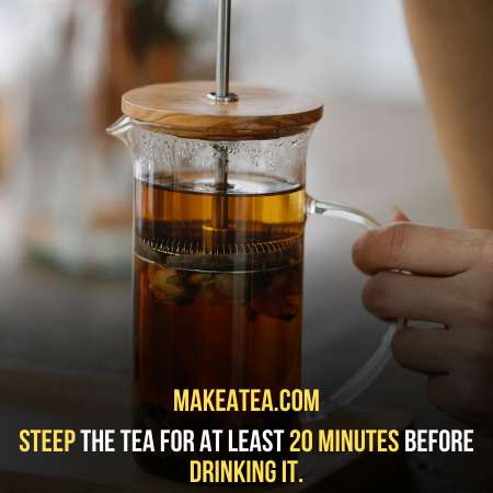 steeping process for twenty minutes